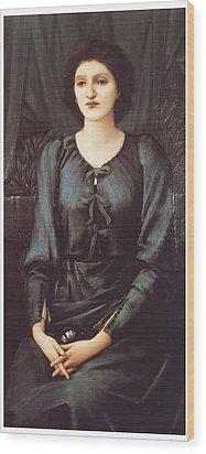 Portrait Of Baronne Madeleine Deslanders Wood Print by Edward Burne-Jones