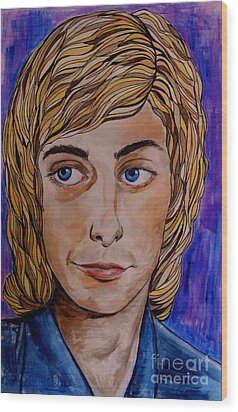 Portrait Of Barry 2 Wood Print