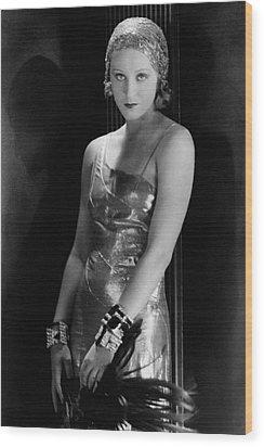 Portrait Of Brigitte Helm Wood Print by George Hoyningen-Huene