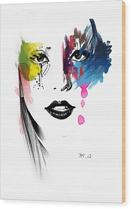 Portrait Of Colors   Wood Print by Mark Ashkenazi