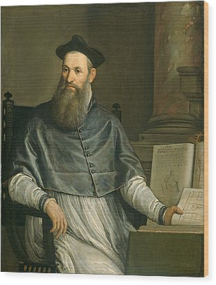 Portrait Of Daniele Barbaro Wood Print by Paolo Caliari Veronese