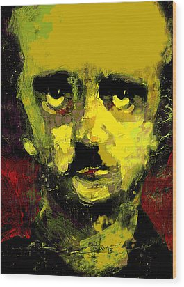 Portrait Of Edgar Allan Poe  Wood Print by Jim Vance