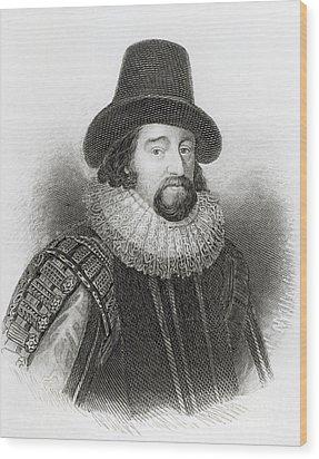 Portrait Of Francis Bacon Wood Print by English School