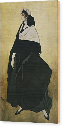 Portrait Of Ida Lvovna Rubinstein Wood Print by Leon Bakst