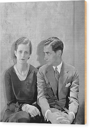 Portrait Of Irving Berlin And His Wife Wood Print by Cecil Beaton