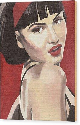 Portrait Of Jenny Bauer Wood Print