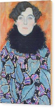 Portrait Of Johanna Staude Wood Print by Gustav Klimt
