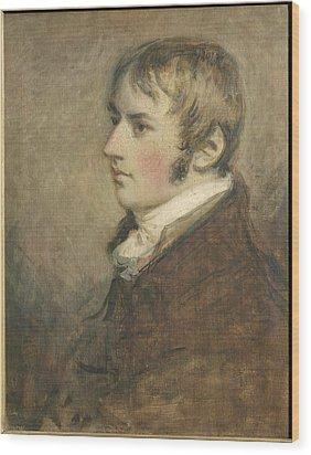 Portrait Of John Constable Aged Twenty Wood Print by Daniel Gardner