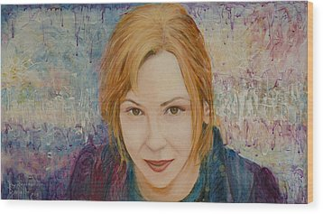 Portrait Of Kat Magda Wood Print