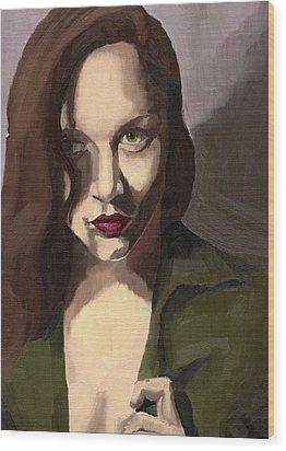 Portrait Of Katelind Wood Print
