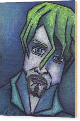 Portrait Of Kurt Wood Print by Kamil Swiatek