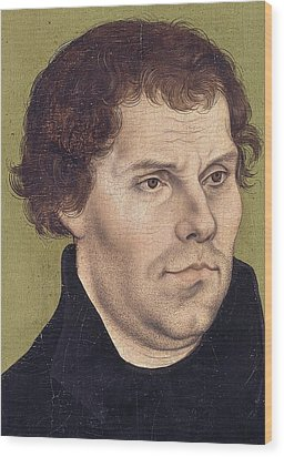 Portrait Of Martin Luther Aged 43 Wood Print by Lucas Cranach