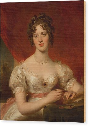 Portrait Of Mary Anne Bloxam Wood Print by Thomas Lawrence