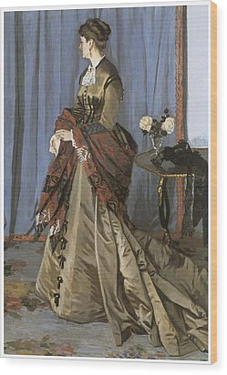 Portrait Of Mrs. Gaudibert Wood Print by Claude Monet