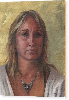 Portrait Of Paula Wood Print by Terri  Meyer