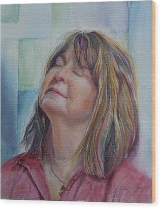 Portrait Of Peg Wood Print
