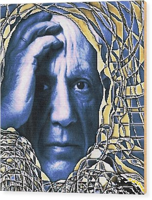 Portrait Of Picasso Wood Print
