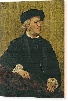 Portrait Of Richard Wagner Wood Print by Giuseppe Tivoli
