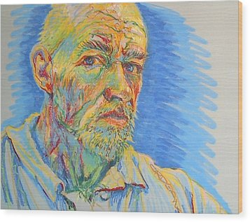 Portrait Of The Artist Wood Print
