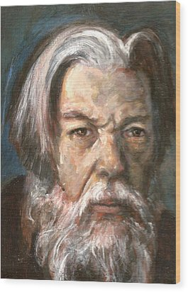 Portrait Of The Artist Wood Print