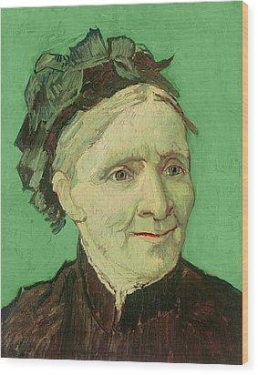 Portrait Of The Artist's Mother Wood Print by Vincent van Gogh