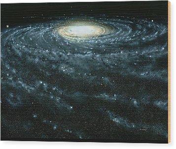 Portrait Of The Milky Way Galaxy Wood Print by Jon  Lomberg
