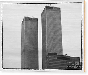 Portrait Of The Towers 1990s Wood Print by John Rizzuto