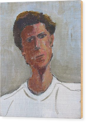 Wood Print featuring the painting Portrait Of Troy by Anita Dale Livaditis