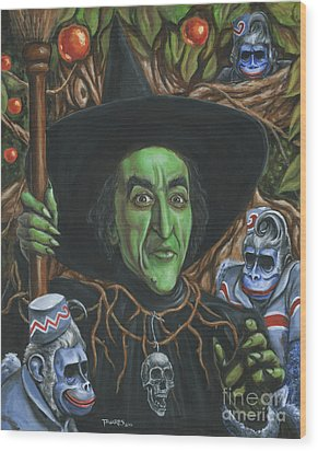 Portrait Of Wickedness Wood Print by Mark Tavares