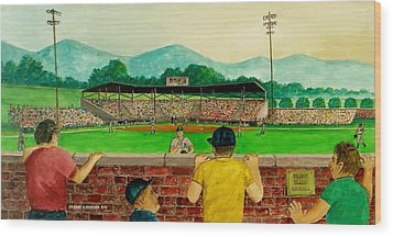 Portsmouth Athletics Vs Muncie Reds 1948 Wood Print