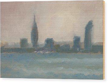 Portsmouth Dawn Part Four Wood Print by Alan Daysh