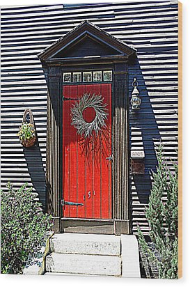 Portsmouth Door 2 Wood Print by Kevin Fortier