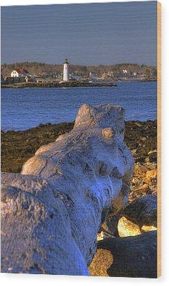 Portsmouth Harbor Light Wood Print by Joann Vitali