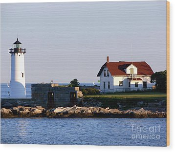 Portsmouth Harbor Light Wood Print by Kevin Fortier
