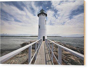 Portsmouth Harbor Lighthouse Wood Print