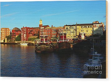 Portsmouth In The Afternoon Wood Print by Kevin Fortier
