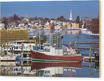 Portsmouth Lobster Boat Wood Print