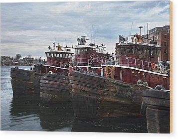 Portsmouth Tugs Wood Print