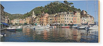Wood Print featuring the photograph Porttofino - Italy by Antonio Scarpi