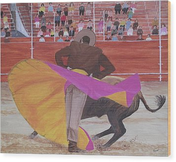 Portuguese Bullfighter Wood Print by Hilda and Jose Garrancho