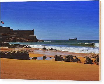 Portuguese Coast Wood Print by Marco Oliveira