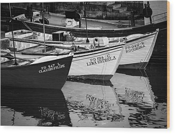 Portuguese Fishing Boats Wood Print