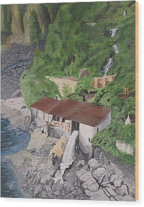 Portuguese Sawmill Wood Print by Hilda and Jose Garrancho