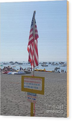 Wood Print featuring the photograph Positano - American Flag  by Nora Boghossian