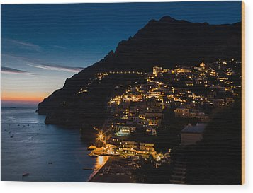 Wood Print featuring the photograph Positano Sunset by Carl Amoth