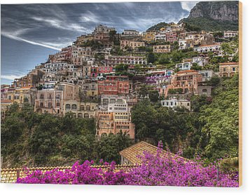 Wood Print featuring the photograph Positano by Uri Baruch