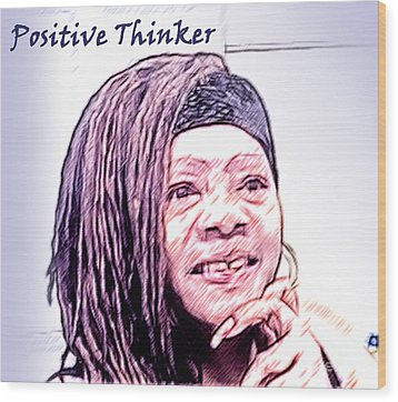 Positive Thinker Pastel Wood Print