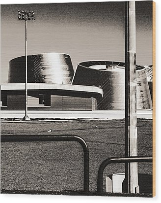 Wood Print featuring the photograph Post-industrial by Arkady Kunysz