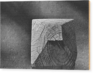 Wood Print featuring the photograph Post by Ludwig Keck
