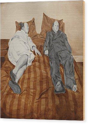 Post Modern Intimacy II Wood Print by Alison Schmidt Carson
